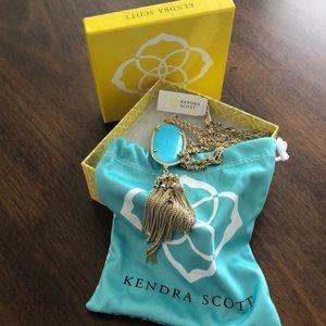 Kendra Scott Turquoise Blue Rayne Necklace